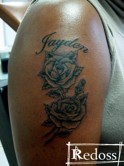 Tatouage Rose Avec Prenom Avant Bras Tuer Auf