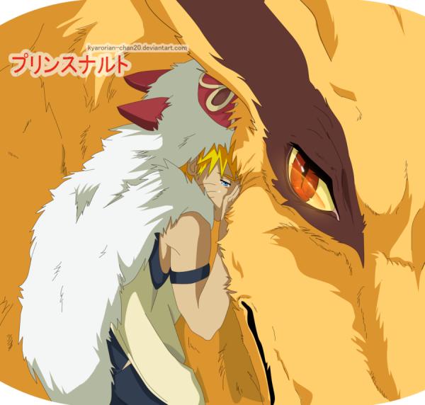 Naruto en princesse Mononoké! trop mimi <3 :3