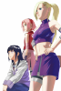 Sakura, Hinata et Ino <3