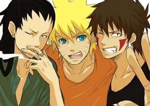Shikamaru, Naruto & Kiba <3 :3