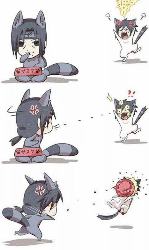Sasuke vs Itachi version Neko xD