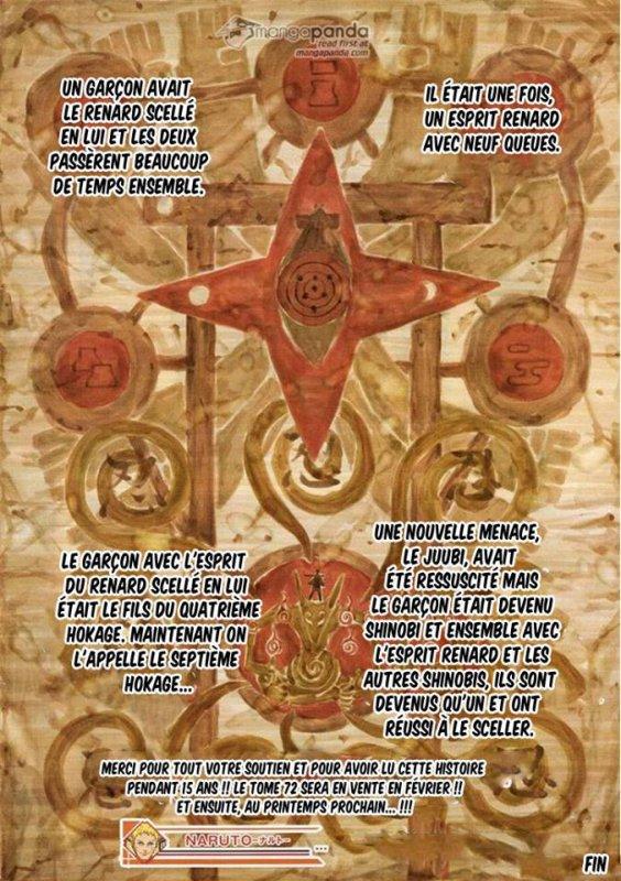 Premier chapitre et dernier chapitre de Naruto <3