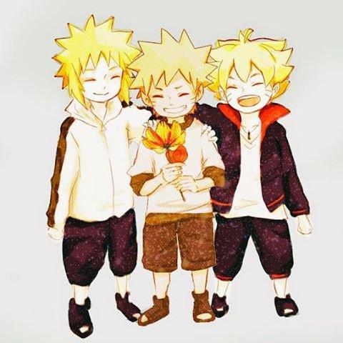 Minato, Naruto, Bolt <3 :3