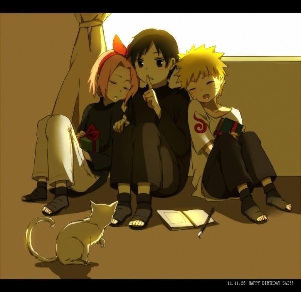 Naruto, Sakura & Sai <3 :3