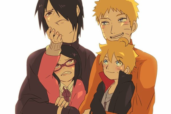 Naruto, Sasuke avec Sarada & Boruto
