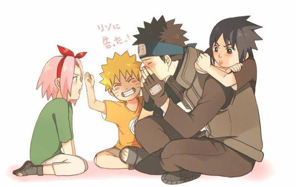 Obito, Naruto, Sakura & Sasuke <3 :3