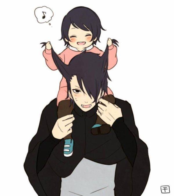 Sasuke & Sarada <3 :3