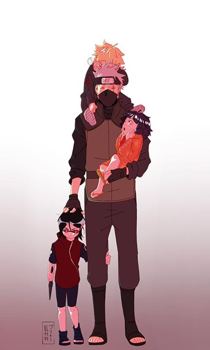 Kakashi et les petits <3 :3