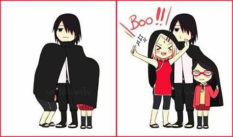 Sasuke, Sakura & Sarada... BOO!!!!