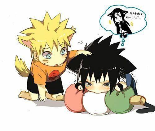 Naruto & Sasuke kawaii