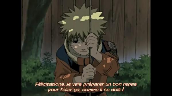 Je regarde le premier épisode de Naruto <3 :3