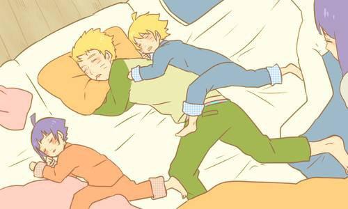 comment les Uzumaki dorment xD <3 :3