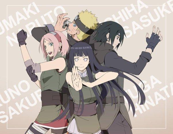 Hinata, Sakur, Sasuke & Naruto<3 :3