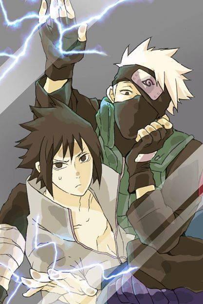 Kakashi et Sasuke