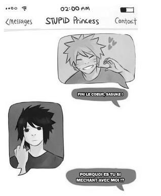 haha Sasuke= batard! xD