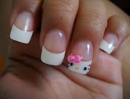 Ongle Hello Kitty <3 <3