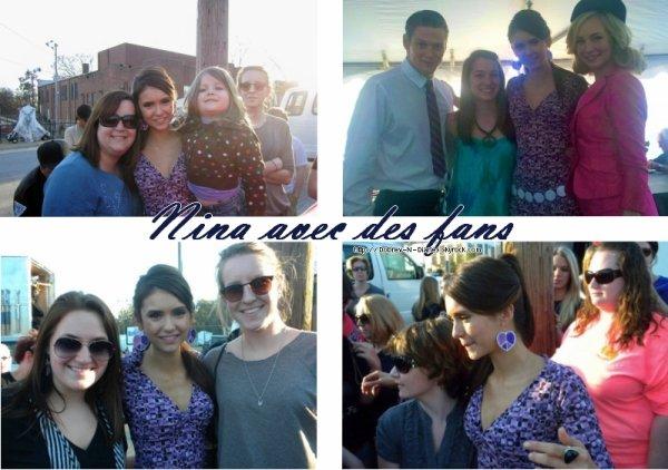 * Voivi quelques photos de Nina avec des fans .*