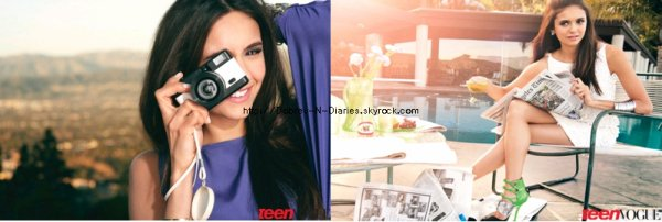 * Voici un magnifique Photoshoot de Nina Pour le magazine TEEN VOGUE*