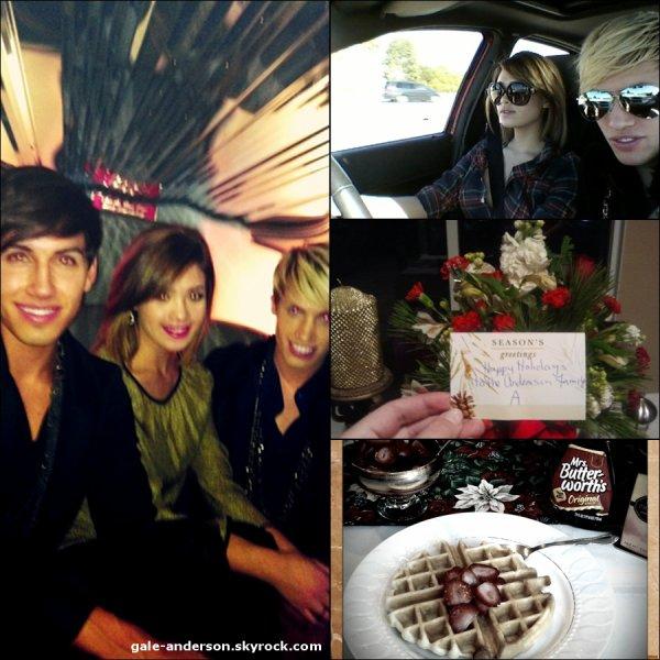 25 décembre 2011: Nicole a posté 4 photos sur son compte Twitter.