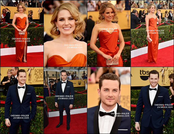 """. S. et J. aux """"21st Annual Screen Actors Guild Awards"""" à Los Angeles, le 24 janvier. ."""