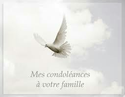 Toutes mes condoléances ...