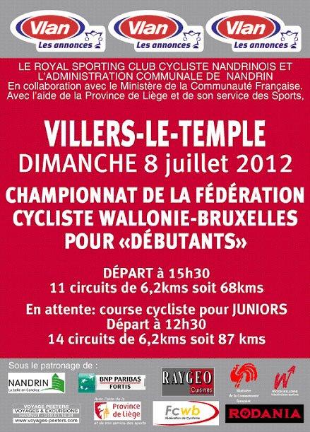 Villers le Temple Championnat FCWB 08/07/2012