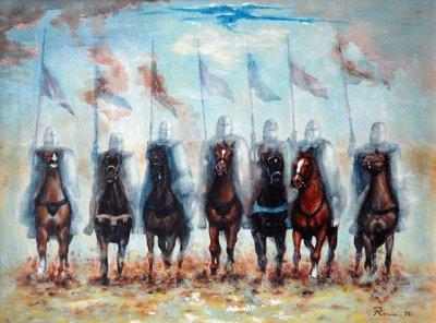 Les premiers chevaliers du Moyen-Age
