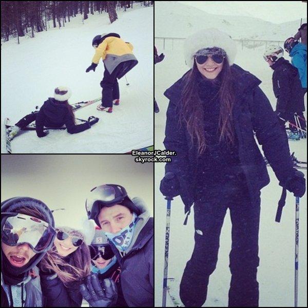 ??/01/14 - Louis et Eleanor ont passé quelques jours au ski avec des amis (Nouvelles photos)
