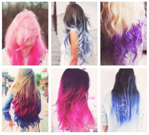 How To avoir les cheveux colorés.