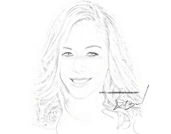 _______________  Un portrait de Kendra , réalisé par un(e) Fan . ( K. était enceinte ,d'ou les rondeurs ,de son visage. )    _______________