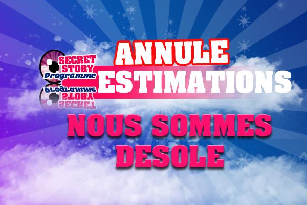 PAS D'ESTIMATIONS CETTE SEMAINE !