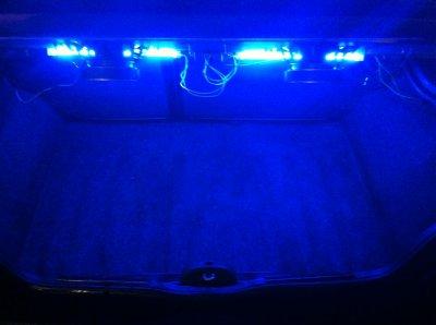 pose de néon dans le coffre
