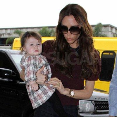 Victoria Beckham with her newborn daughter  Harper