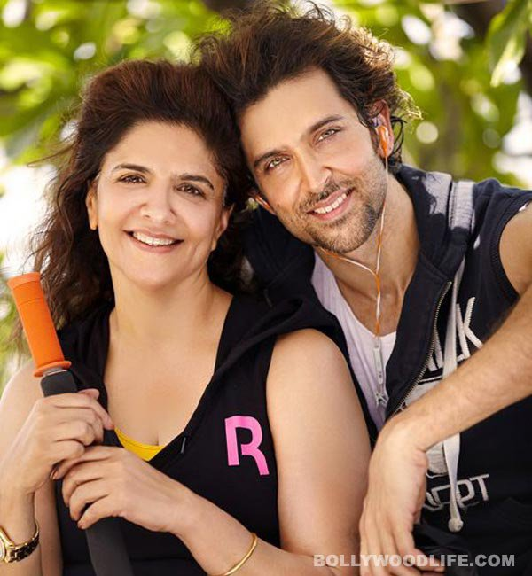 Hrithik Roshan with his Mom Pinky Roshan