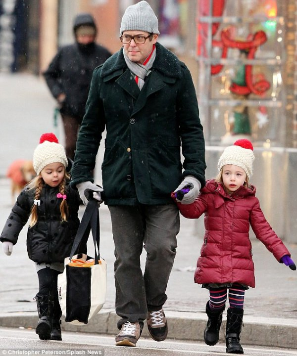 The 51-year-old actor Matthew Broderick was seen in the West Village neighbourhood of New York on a trek along with his delightful girls Tabitha Hodge and Marion Loretta