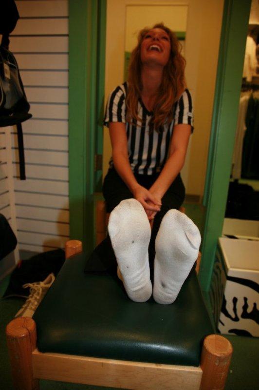 girl in dirty socks
