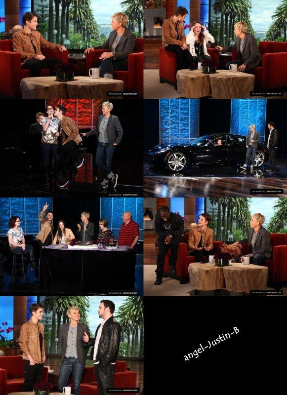 The Ellen Show - photoshoot boyfriend cover - Thank you JB - Video: Les One Direction souhaitent un HB à Justin!