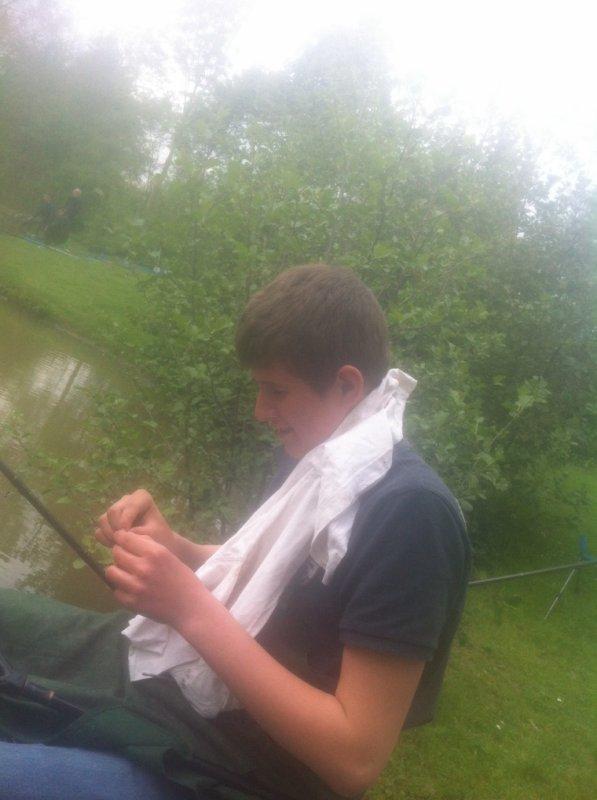 Pêche avec un collègue!