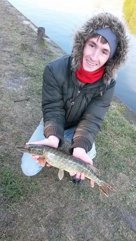 Jolie pêche en rivière