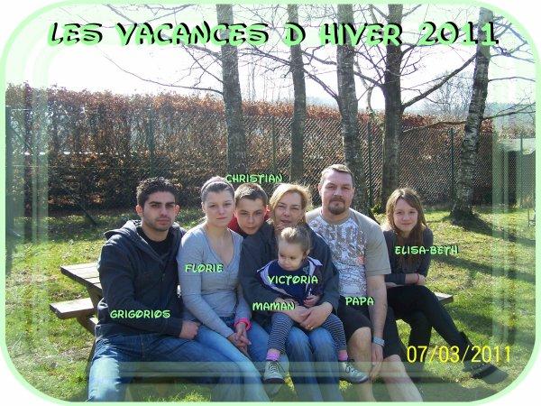 Nos vacances d hiver ,mars 2011