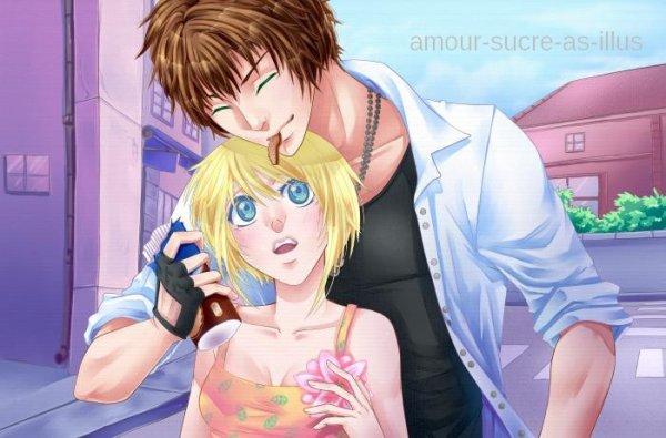 Sucrette : Cheveux court,blond,yeux bleu clair. (Que les illustrations avec une sucrette.)