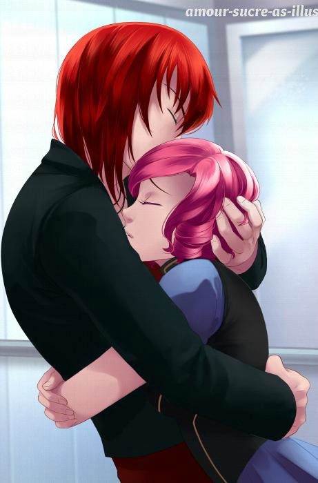 Sucrette : Cheveux bouclée,rose,yeux rose. (Que les illustrations avec une sucrette.)
