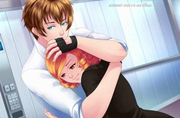 Sucrette : Cheveux bouclée,roux,yeux marron. (Que les illustrations avec une sucrette.)