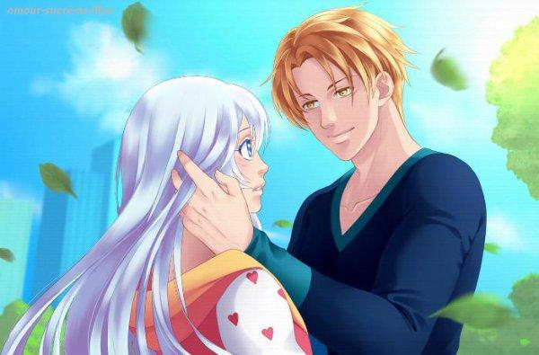 Sucrette : Cheveux longs,blanc,yeux bleu clair. (Que les illustrations avec une sucrette.)