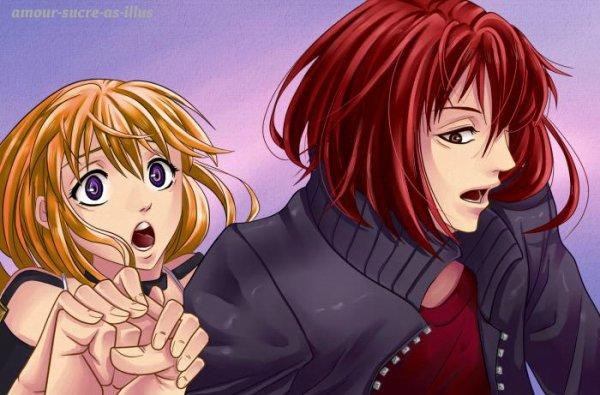Sucrette : Cheveux long,roux,yeux violet. (Que les illustrations avec une sucrette.)