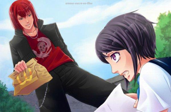 Sucrette : Cheveux court,noir,yeux rose. (Que les illustrations avec une sucrette.)