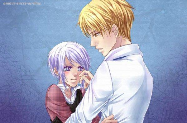 Sucrette : Cheveux court,blanc,yeux violet. (Que les illustrations avec une sucrette.).