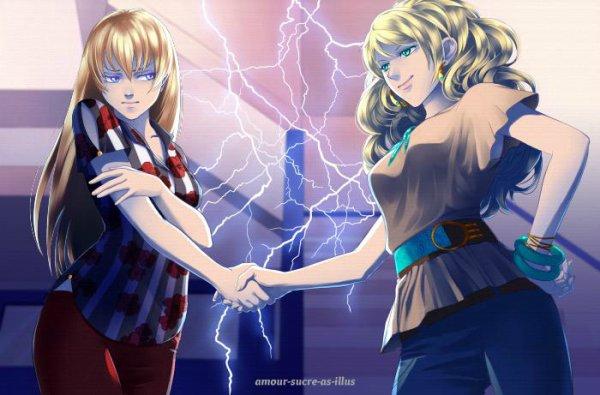 Sucrette : Cheveux long,blond,yeux bleu clair. (Que les illustrations avec une sucrette.)