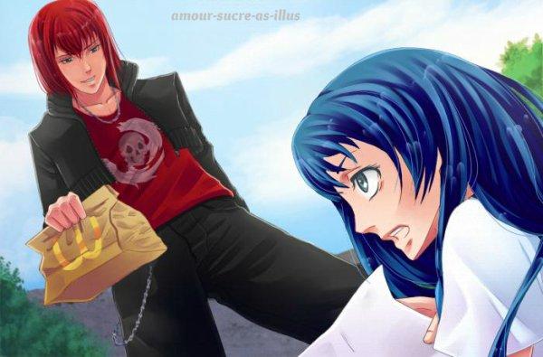 Sucrette : Cheveux longs,bleu,yeux gris. (Que les illustrations avec une sucrette.)