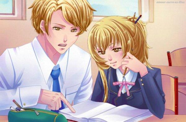 Sucrette : Cheveux long,blond,yeux jaune. (Que les illustrations avec une sucrette.)